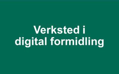 Verksted i digital formidling blir utsatt til januar 2021